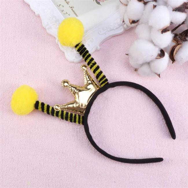 Hair Hoop Insect Antenna Creative Songe Ball Hair Headwear Headdress For Kids Christmas Headbands Party Favors