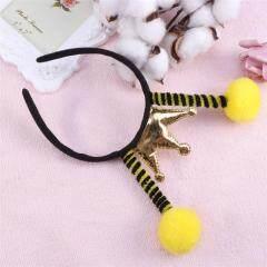 Hair Hoop Insect Antenna Creative Songe Ball Hair Headwear Headdress For Kids Christmas Headbands Party Favors