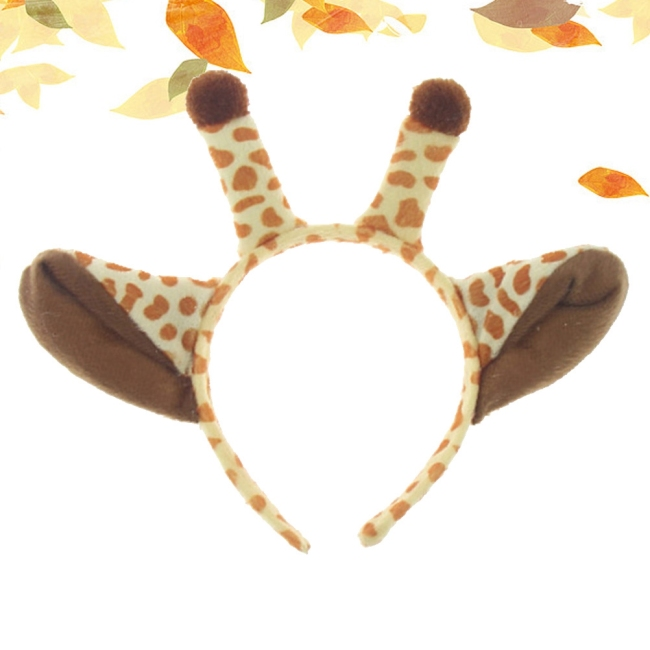 Costume Party Animals Headpiece Hair Hoop Headdress Giraffe Horn Shape Cosplay Headband for Men Women Boys Girls Kids Adults