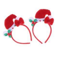Hair Hoop Decorative Bell Santa Hat Exquisite Beautiful Headdress Headband Hair Hoop Hair Accessory for Party