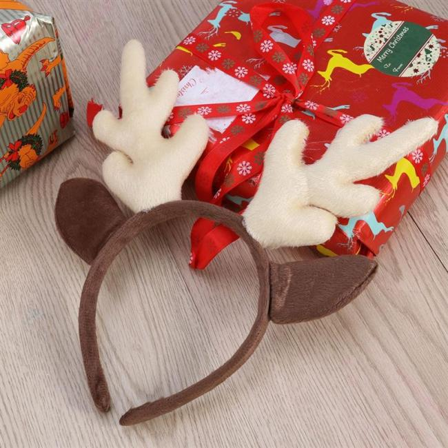Reindeer Antler Hair Hoop Christmas Kids Headband Headwear For Children Christmas Costume Party