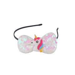 Girl Hairband Glitter Can Flip Sequin Unicorn Headband Hair Hoop for Kids Rainbow Hair Bands Halloween Christmas Headdress Gifts