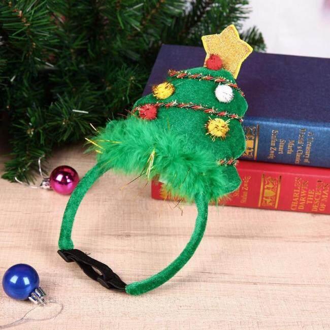Christmas Headdress Headband Christmas Pet Headband Deer Horn Hat Costume Dog Festive Decorative Xmas Tree Pet Accessories