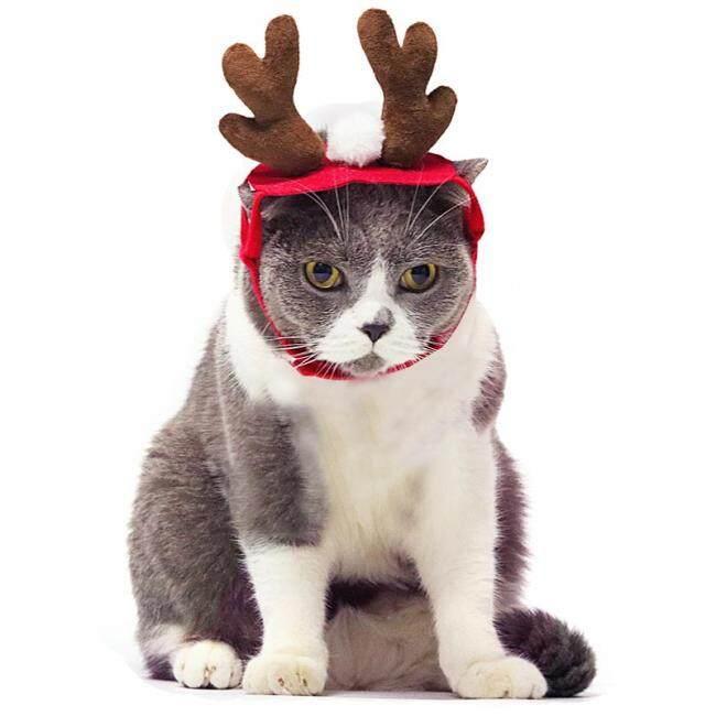 Christmas Dog Headbands Antlers Pet Supplies Dog Cat Deer Headband Decoration Teddy Dog Antlers Dog Gentleman Headdress