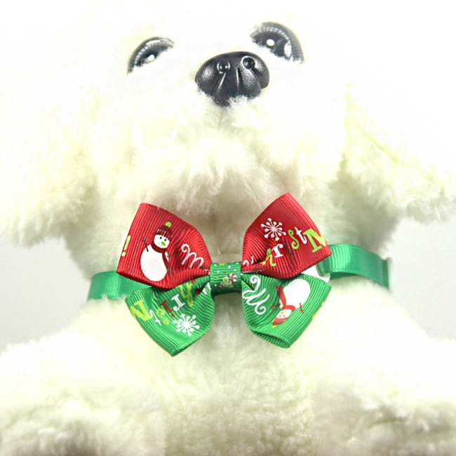 NewPet Christmas Headdress And Necktie Set For Puppy And Cats Festival Grooming Accessories pet headdress with rubber band