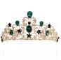 Multicolor Leaf Rhinestone Crown Popular Alloy Bridal Hair Hoop Wedding Dress Accessories Wholesale Tiara