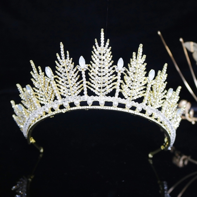 Pageant Crown Princess Tiara Bride Floral Tiara