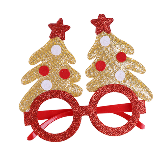 New Christmas Glasses Snowman Frame Happy New Year Kids Favors Xmas Gift Party Decor Christmas Headdress Head Ornament Decor