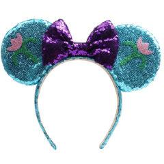 Christmas Headbands Lovely Girls Bows Minnie Mickey Mouse Ears Headband Hair Accessories Kid Women Headdress Head Band Party