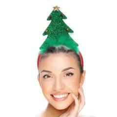 Hair Hoop Cartoon Beautiful Christmas Tree Cloth Headdress Photo Props Hair Band Hair Accessories Hair Hoop