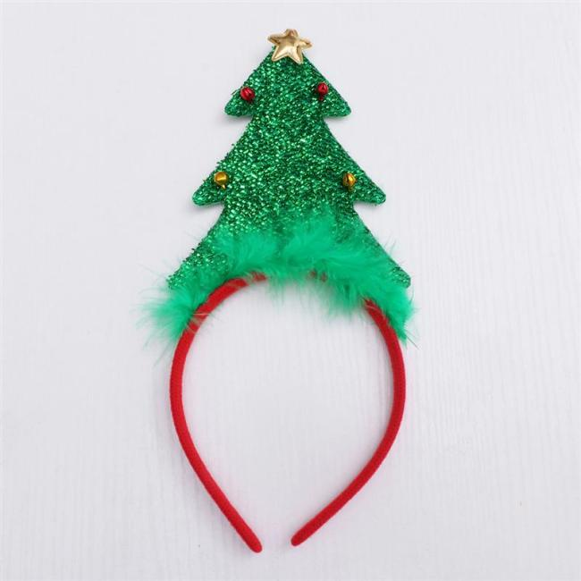 Hair Hoop Cartoon Beautiful Christmas Tree Cloth Headdress Photo Props Hair Band Hair Accessories Hair Hoop