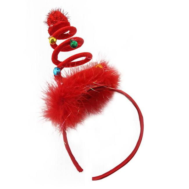 Christmas Hair Band Funny Feather Xmas Spiral Spring Headdress Party Favors Hair Hoop For Kids