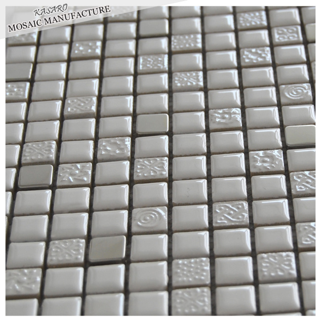 Bathroom wall acid-resistant white ceramic tiles
