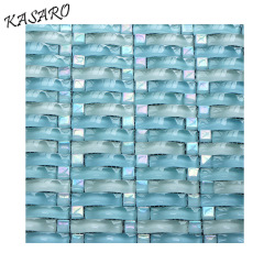 Wave Crystal Glass Mosaic Swimming Pool Tiles for Sale