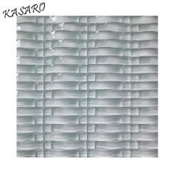 White Tiles Basket Crystal Mosaic, Wave Glass Mosaic