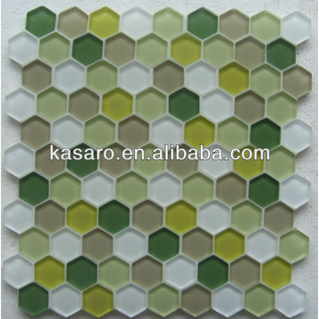 Hexagon Mosaic Tile,hexagon bathroom tiles,green hexagon mosaic floor tiles