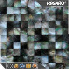 Triangle black lip shell sheets mosaic bathroom tiles mosaic