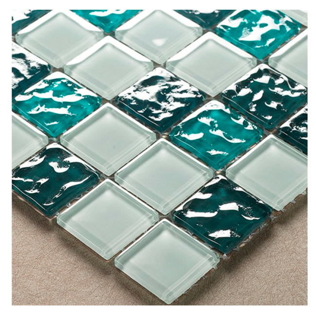 Bumpy Green And White Glass Mosaic Tiles Prices In Egypt