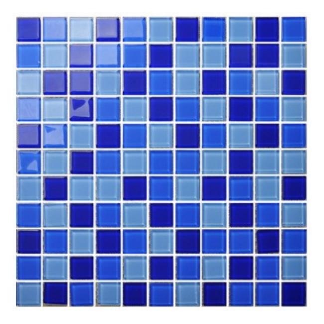 Dark Blue swimming pool tile cheap mosaic Glass Mosaic for swimming pool tile