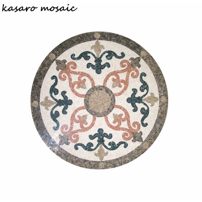 Marble mosaic tile,medallion floor patterns Flower pattern marble mosaic floor medallion, Mosaic table patterns KS-R3003