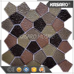 Pentagon Mosaic Tile Factory Wall Tile Mosaic Black Glass Mosaic