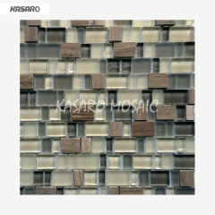 Pure White Glass Stone mosaic,Uneven Glass Mosaic Tiles