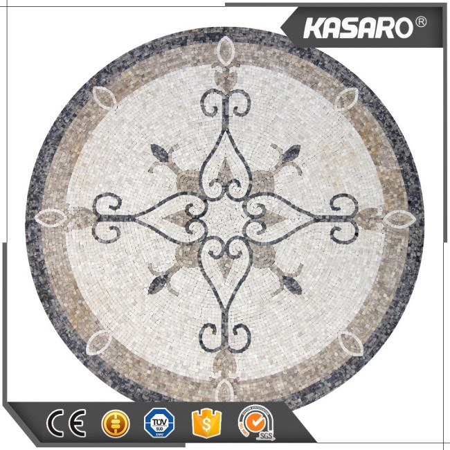 Marble Mosaic Tile Round Mosaic Medallion Floor Patterns Flower Pattern Marble Mosaic Floor Medallion