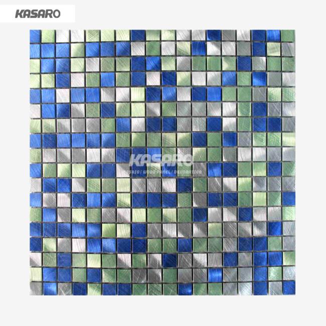 Colorful Brushed Metal Mosaic Tile Metallic Mosaic Tile