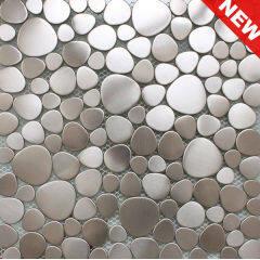 Mosaic Pebble Tile, Pebble Mosaic, Pebble Pattern Tile (KM20130019)