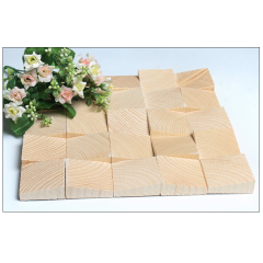 Wholesale Eco- Friendly Natural Wooden  Mosaic Tile For Art Wall Decoration