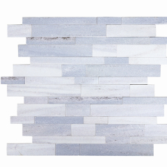 Wall Decoration Mosaic Tile Strip Iridescent Stone Powder SPC Mosaic