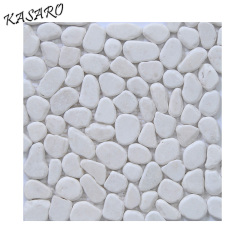 White Pebble Stone Mosaic For Wall Stickers Home Decor