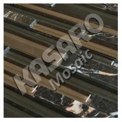 Strip Mosaic Wall Glass Stone Strip Mosaic(KN-13082902)
