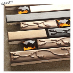 Stainless Steel Tiles Kichen Backsplash, Adhesive Kitchen Tiles, Metal Mosaic (KSL6655)