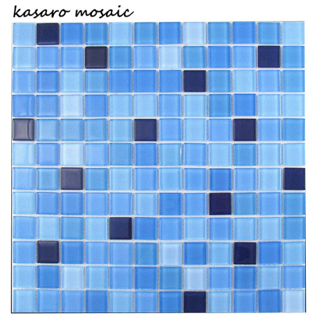 China Manufacturer Colorful Glass Mosaic Tile for Bathroom Design