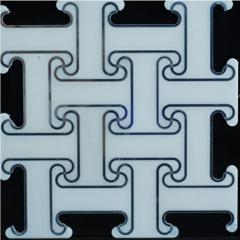 Most trendy bathroom water jet mosaic marble tile