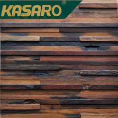 Waterproof and anticorrosive high quality old ship wood wall covering mosaic tile wood panel