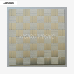 Wall Decor Peel Stick Tile Metal Mosaic Wall Tiles