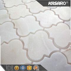 White Waterjet Marble Mosaic
