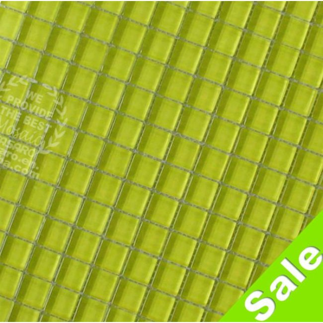 0.6 x 0.6 inch Baby Green Glass Mosaic Tile  For Bathroom Kitchen