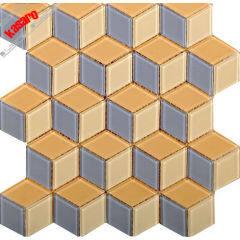 rhombus glass mosaic for bathroom quadrangle tile kitchen backsplash