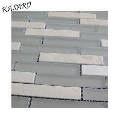 Strip Mosaic Tile, Strip Glass and Stone Mosaic Tile, Subway Tile
