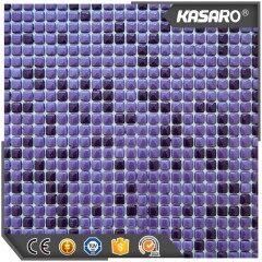 10x10 mm Purple Backsplash Tiles Mosaic, Glass Mosaic Tile Purple Mix, Full Body Glass Mosaic