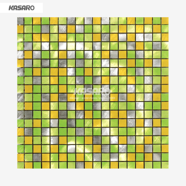 Brushed Aluminum Mosaic Square Metal Mosaic