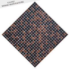 Recycle Glass Brown Glossy Mosaic For Backsplash