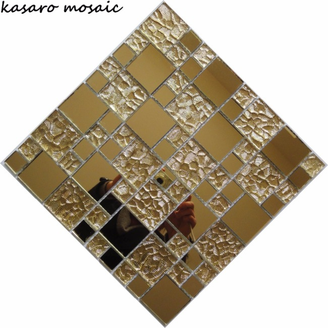 Mirror Glass Mosaic Tile, Mirror Backsplash Tiles Mirror Tiles 12x12 (KSL8835)
