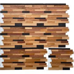 Wood Veneer Natural Wood Mosaic Pell And Stick Tile Wood Panel