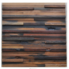 Wall Tile Mosaic Old Ship Wood Material Old Ship Wood Furniture mosaic Wood Wall Panel
