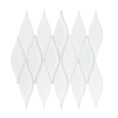 White Glass Mosaic For Decoration
