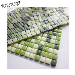Greens recycle tiles glass mosaic